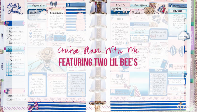 Cruise Plan With Me Featuring Two Lil Bee's