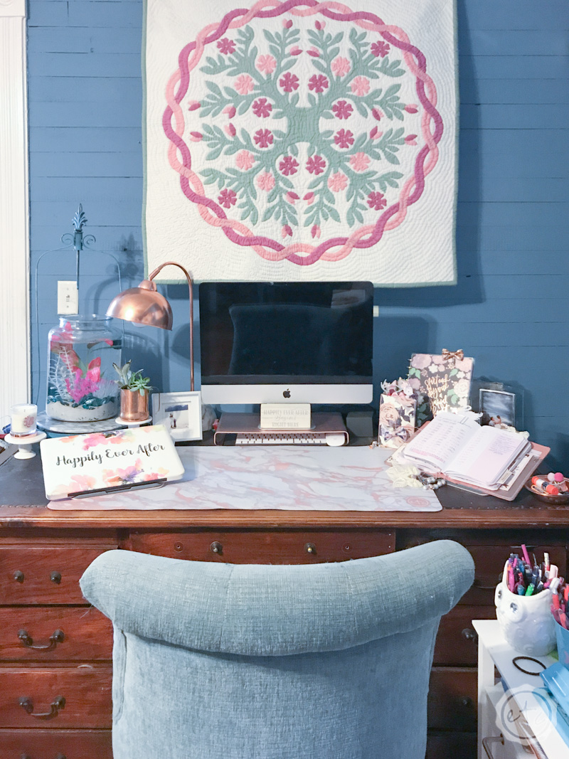 How To Maximize The Space On A Small Desk Happily Ever
