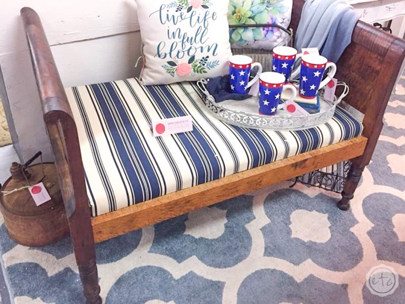 Baby Toddler bed from 85 years ago, brought to life with Miss Mustard Seeds Hemp Oil