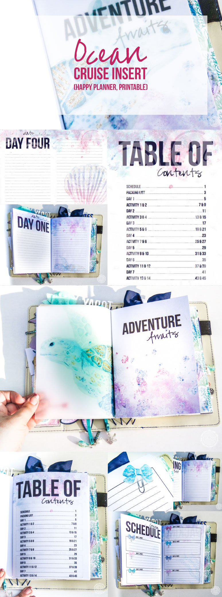 photo relating to Happy Planner Printable referred to as Ocean Include Cruise (Delighted Planner, Printable)