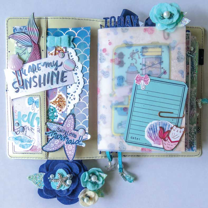 ocean themed cruise travelers notebook happily ever after etc