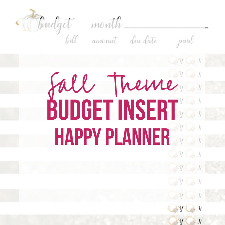 photograph relating to Happy Planner Budget Printable known as Drop Increase Funds (Joyful Planner, Printable)