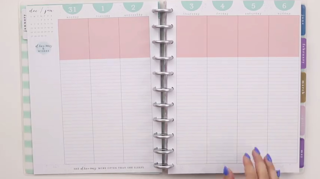 The Happy Planner 2019: Mermaidesque Big Interior Page Layout