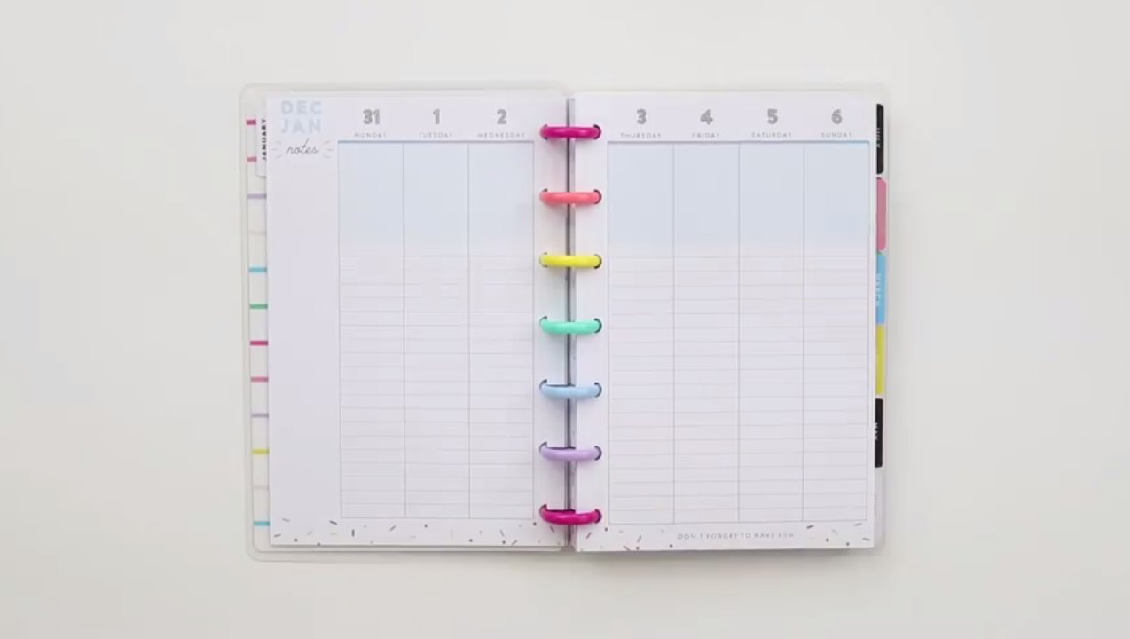 2019 Happy Planner: Life is a Party Mini Interior Page Layout