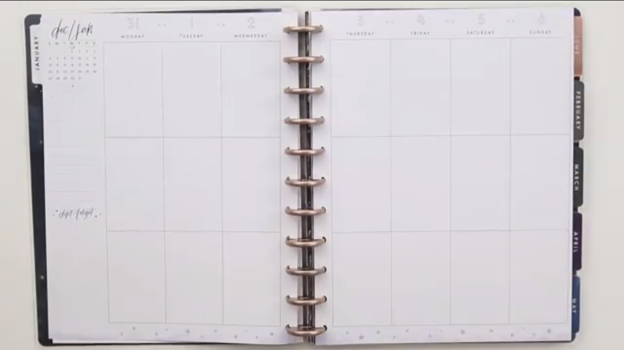 Happy Planner 2019: Boho Dream Big Interior Page Layout