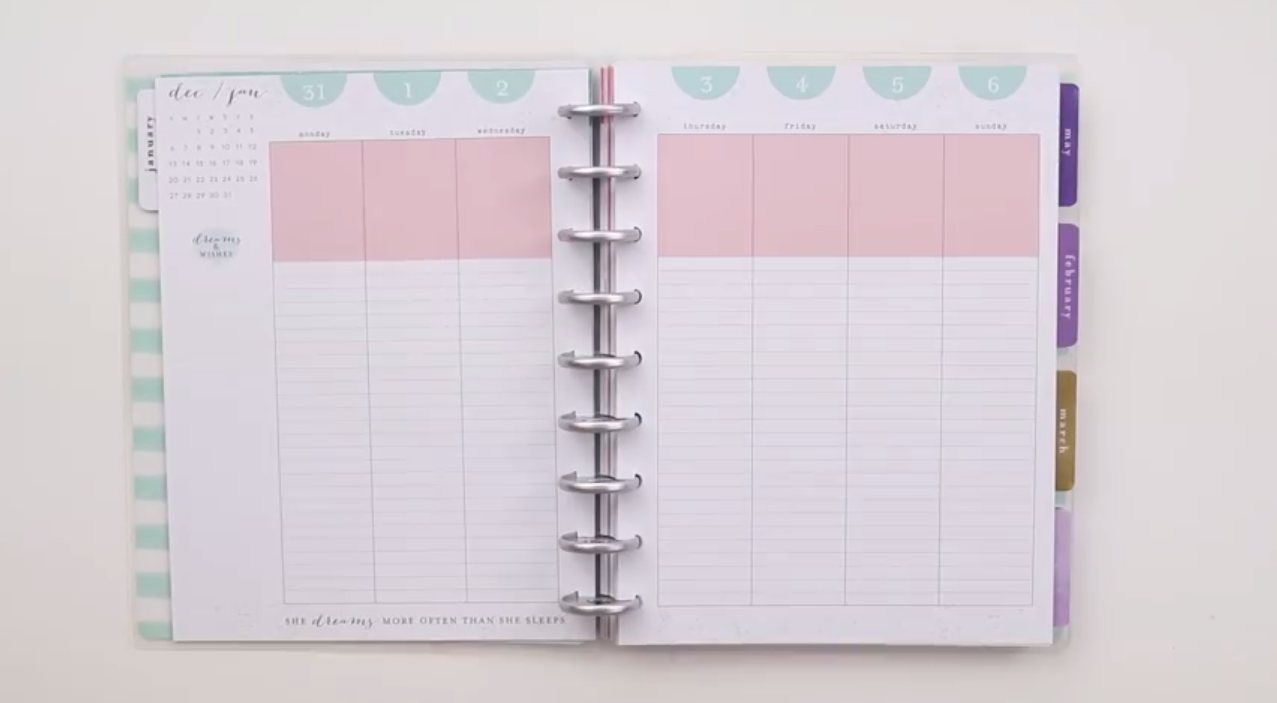 The Happy Planner 2019: Mermaidesque Classic Interior Page Layout