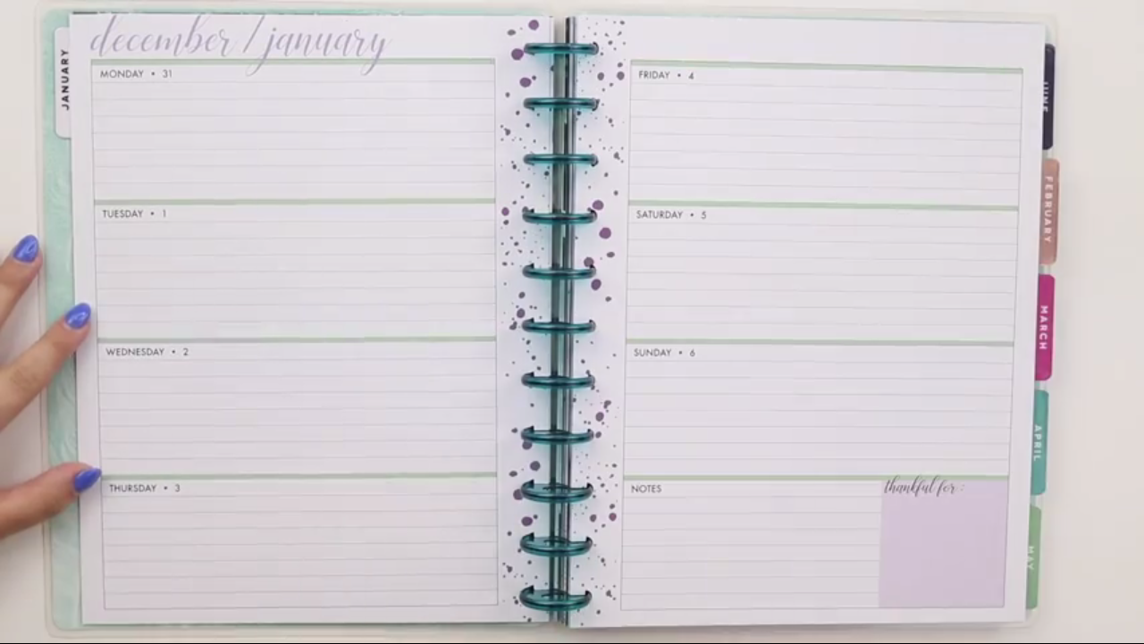 Happy Planner 2019: Beauty in Faith Interior Page Layout