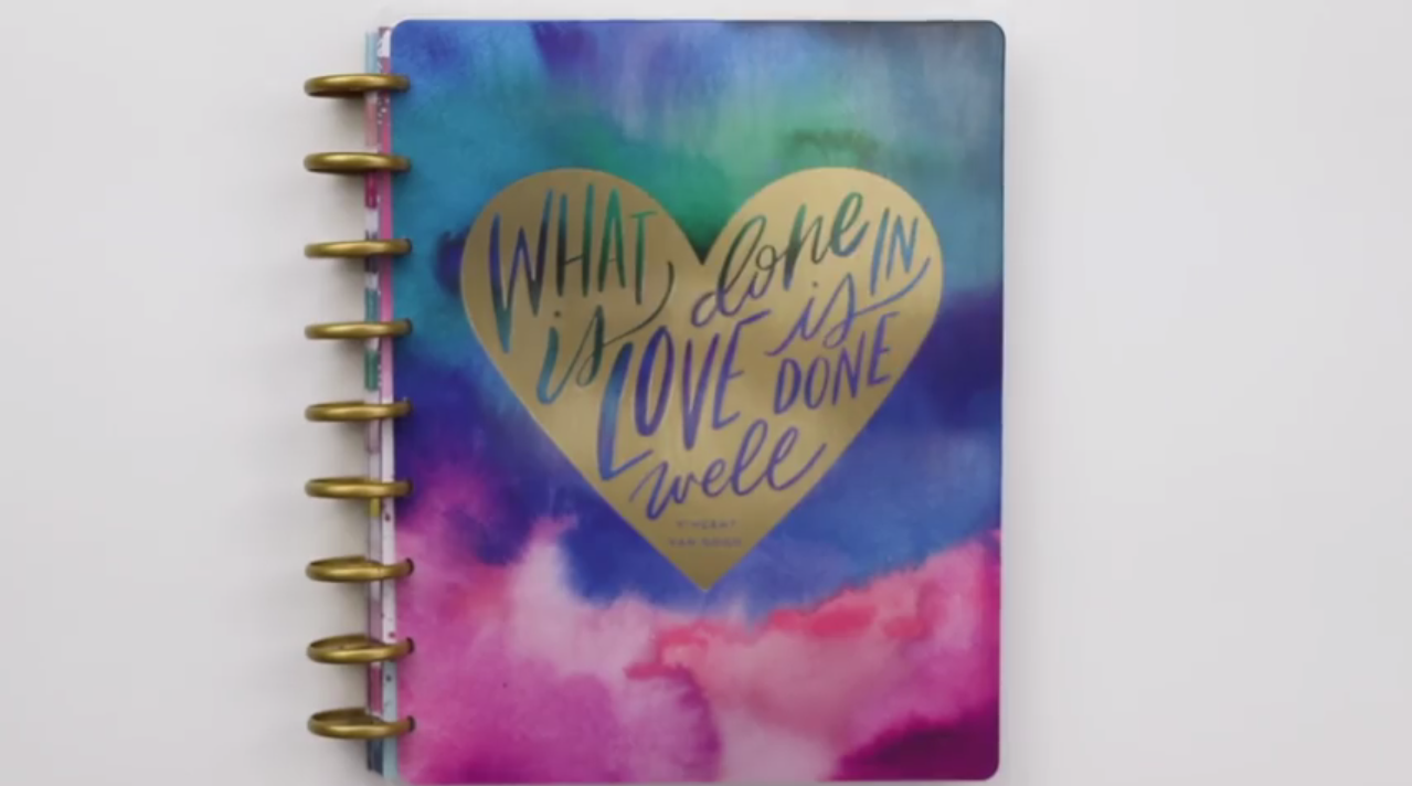 The Happy Planner 2019: Watercolor Abstract Big Cover