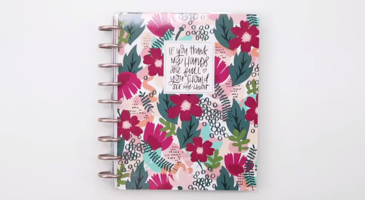 2019 Happy Planner: Forget Me Not Classic Cover