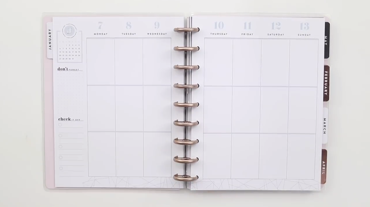 The Happy Planner 2019: Dreaming of Geos Classic Interior Page Layout