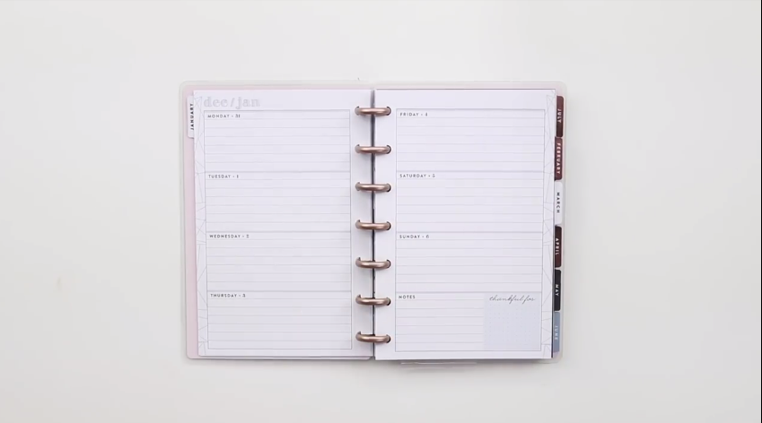 The Happy Planner 2019: Dreaming of Geos Mini Interior Page Layout