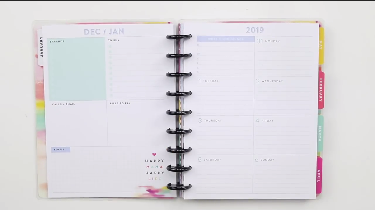 2019 Happy Planner GIRL - Happily Ever After, Etc