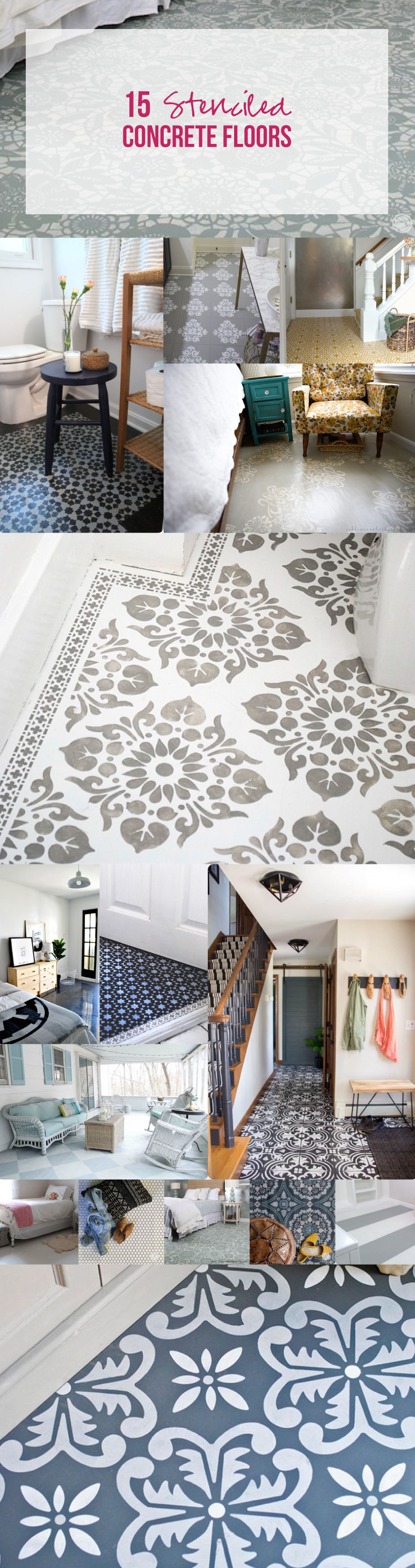 15 Stenciled Concrete Floors Happily Ever After Etc