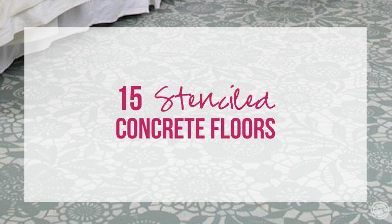 15 Stenciled Concrete Floors