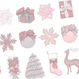 Blush Christmas Die Cut Printables and Cricut Cut Files