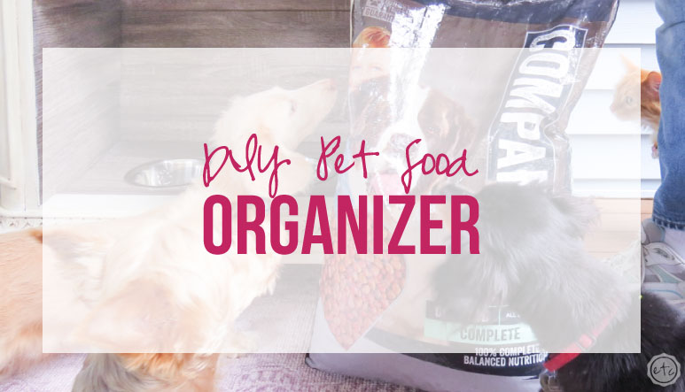 DIY Pet Food Organizer