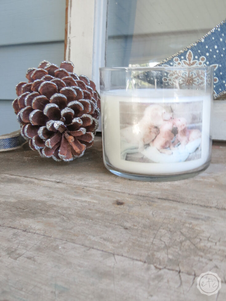 DIY Personalized Photo Candles (on a budget!)