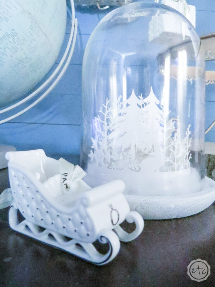 DIY Winter Wonderland Cloche