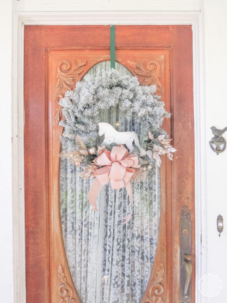 DIY Flocked Wreath
