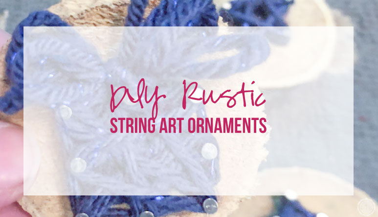 DIY Rustic String Art Ornaments