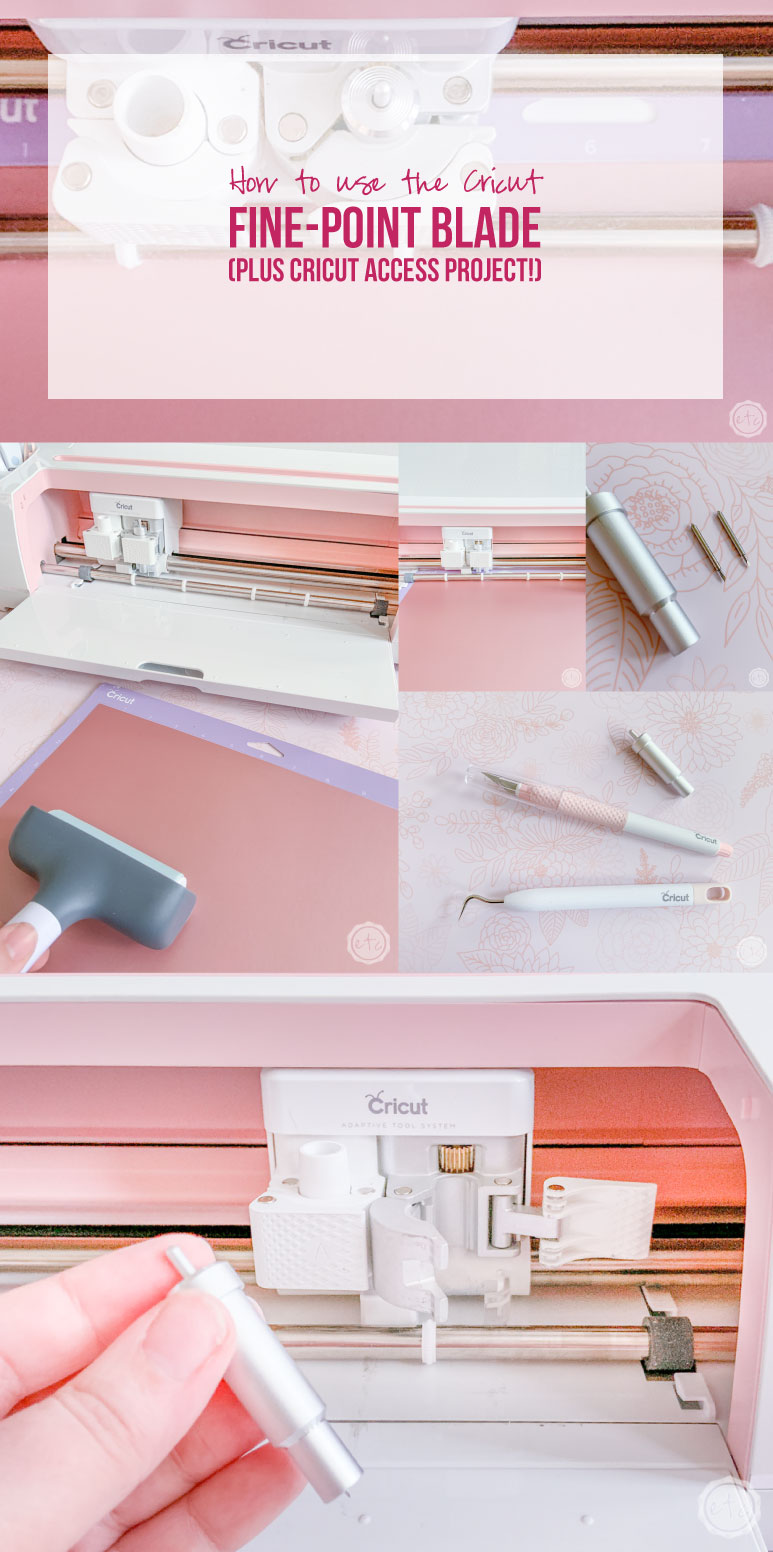 How to use the Cricut Fine-Point Blade (Plus Cricut Access Project