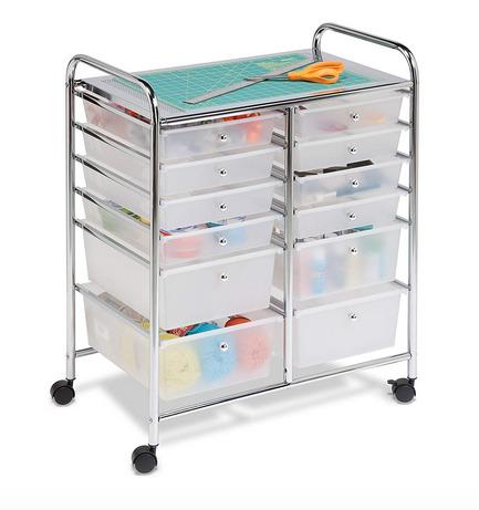 Craft Room Organization Ideas: Cricut Rolling Cart