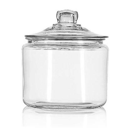 Craft Room Organization Ideas: Clear Glass Storage Jar