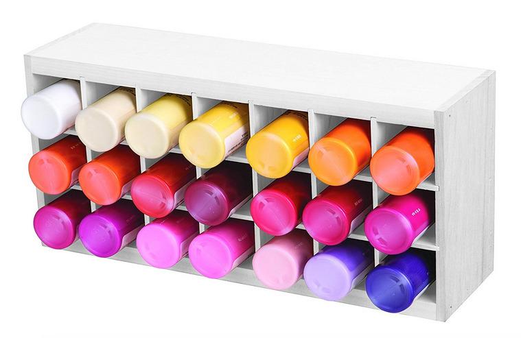 Craft Room Organization Ideas: Paint tube organizer