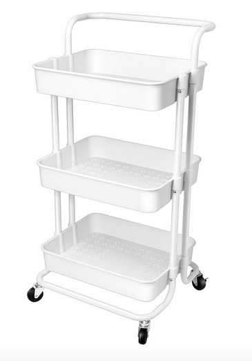 Craft Room Organization Ideas: Paint rolling craft storage cart