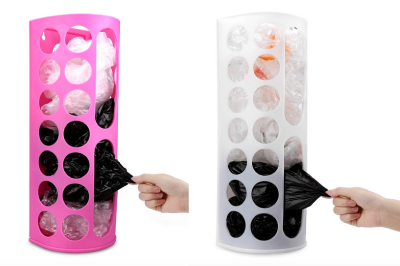 Craft Room Organization Ideas: Disposable Bag Dispenser