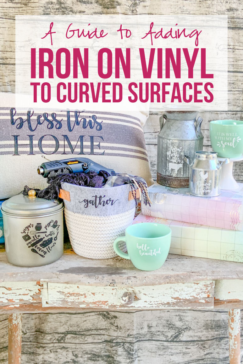 A Guide to Adding Iron On Vinyl to Curved Surfaces