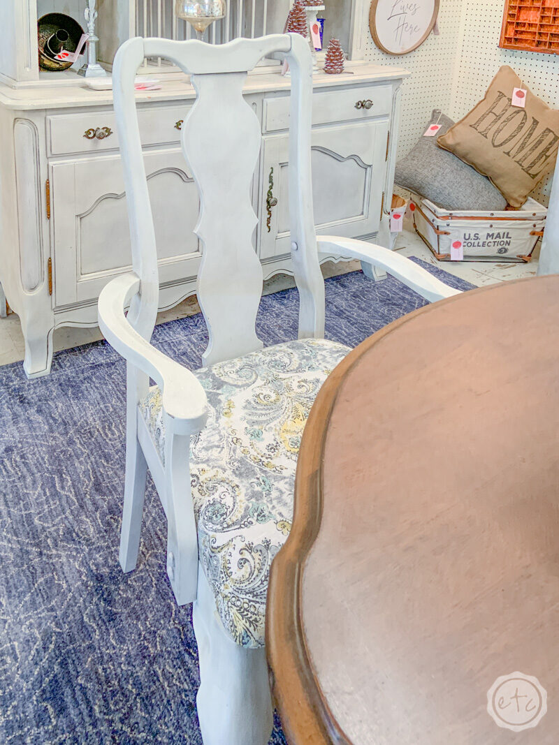 Swell Rustoleum Chalk Paint Linen White Table And Chairs Reveal Machost Co Dining Chair Design Ideas Machostcouk