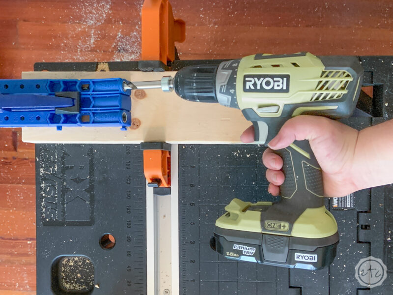 How to use a kreg jig with your Ryobi power drill