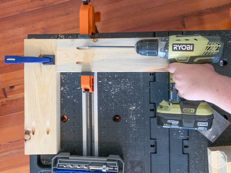 How to use pocket hole screws to join two boards together.