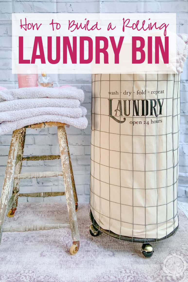 How to Build a Rolling Laundry Bin in less than an hour and only $20