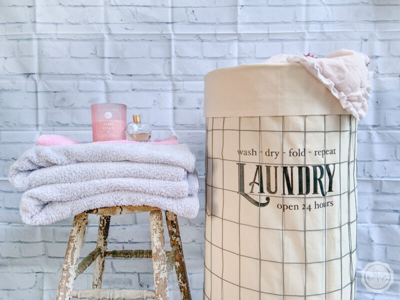 A cute laundry hamper with wheels to make all your laundry fun again.