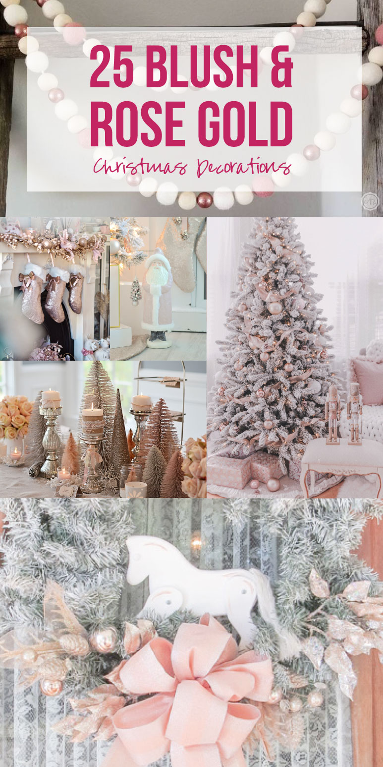 25 Blush And Rose Gold Christmas Decorations Happily Ever After Etc
