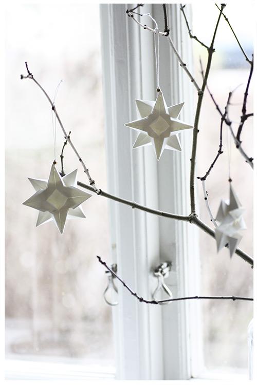 White Origami Ornaments