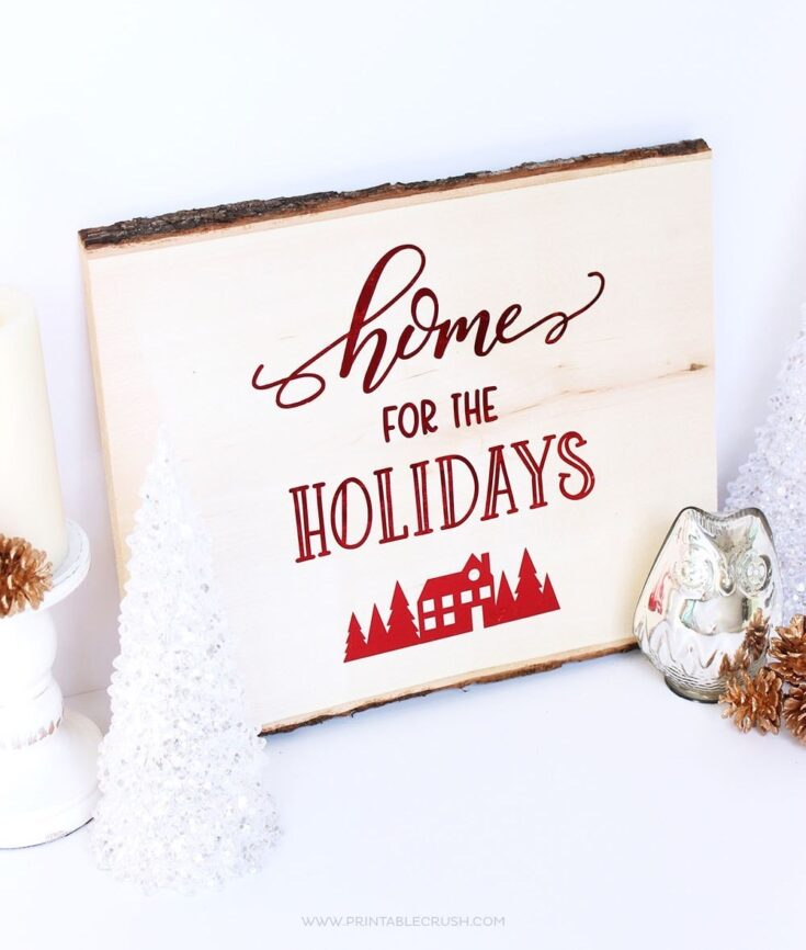Hand Lettered Christmas Sign
