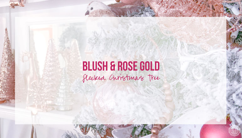 Blush and Rose Gold Flocked Christmas Tree