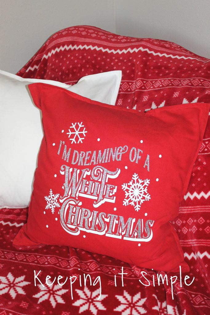 Christmas Pillow Ideas with SVG Cut Files