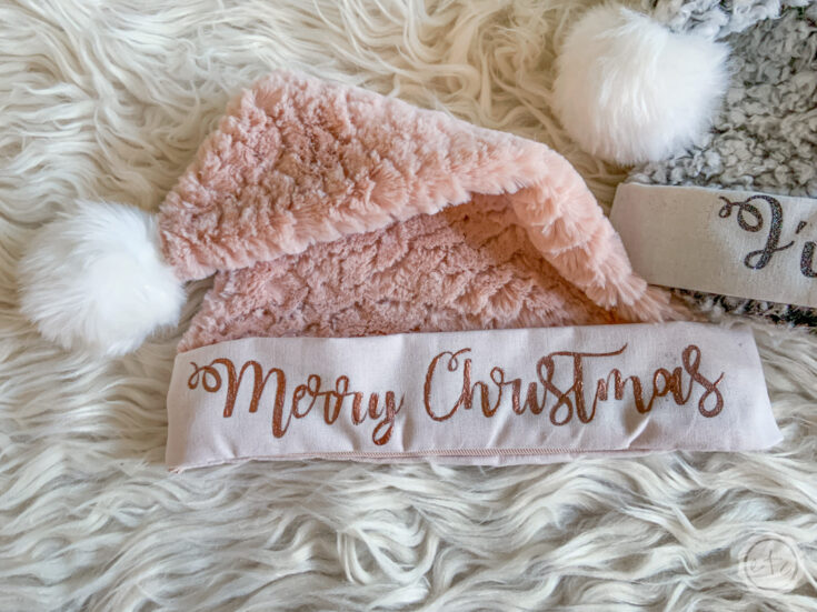 Blush and Copper Santa Hat