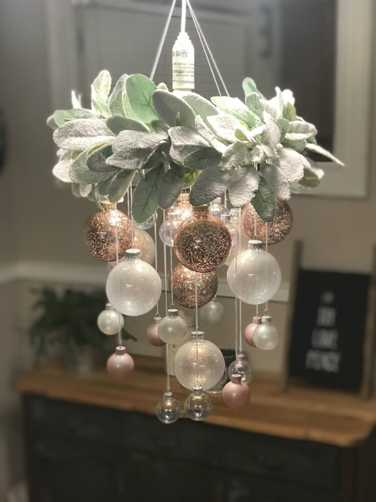 DIY Christmas Ornament Chandelier