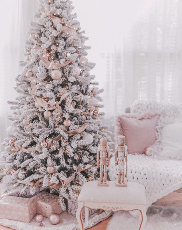Couture Rose Gold & Blush Christmas Tree Details