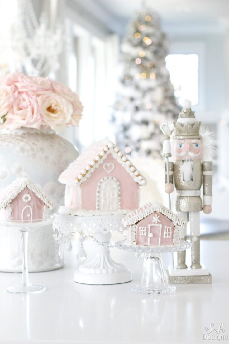 Pink Christmas Kitchen
