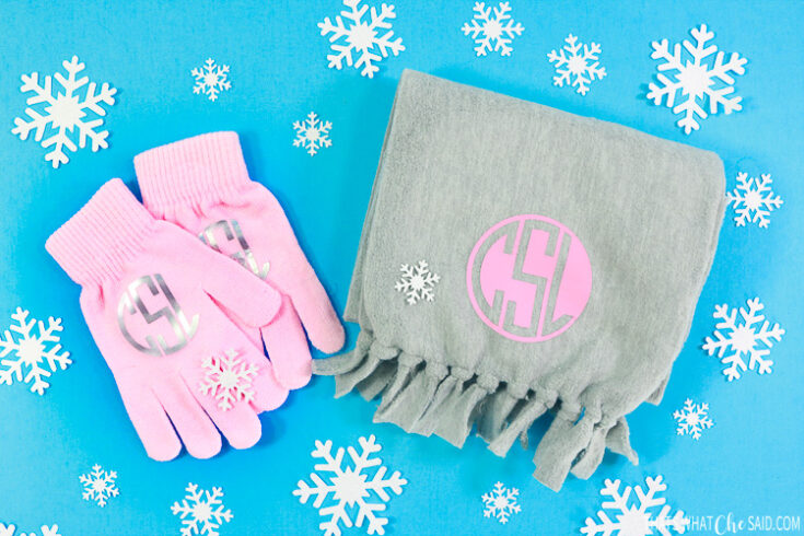 Personalized Scarf & Gloves Gift Set