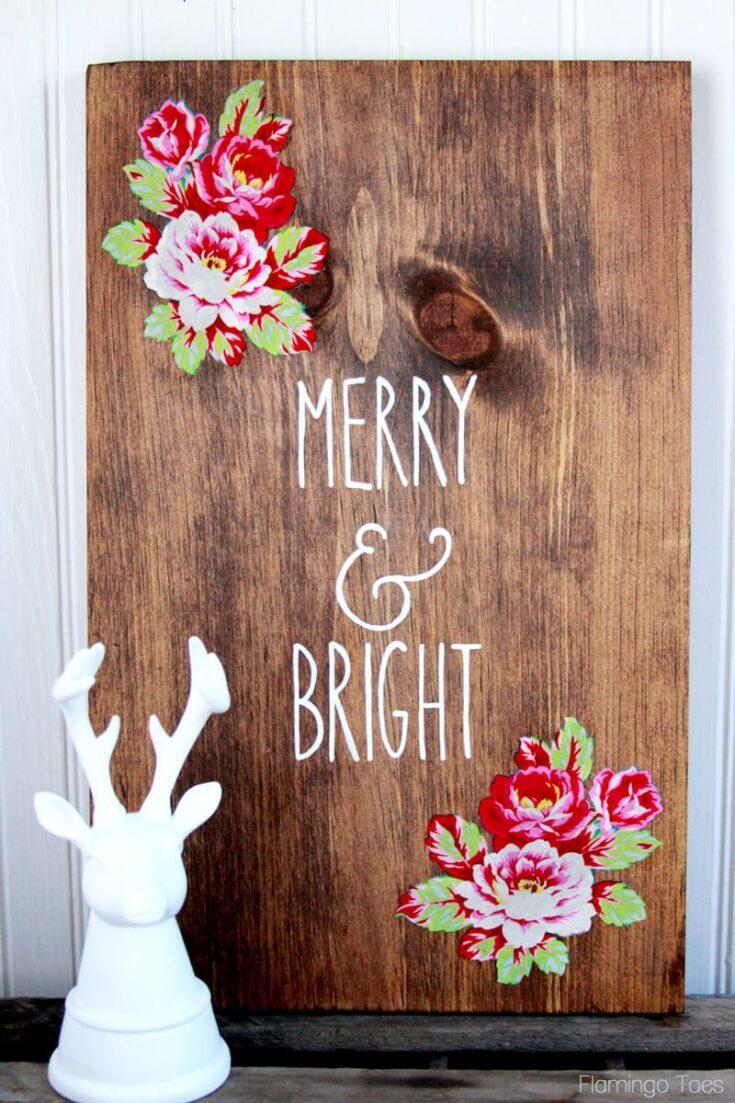 DIY Wood Christmas Sign