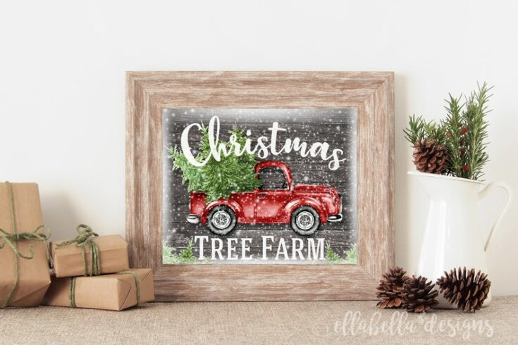 Farmhouse Christmas Printable Wall Art