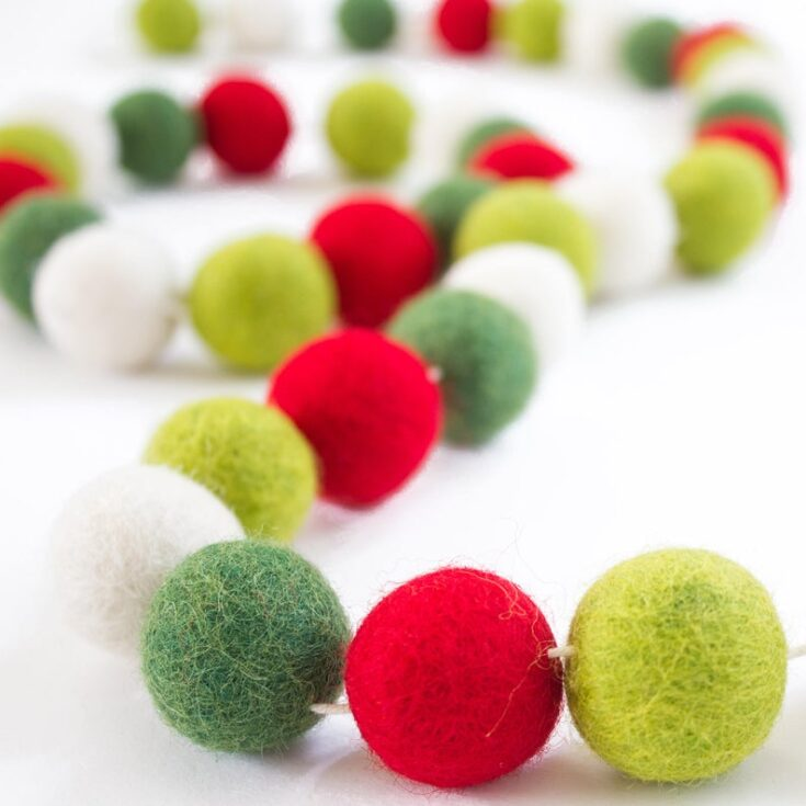 MINI Felt Ball Garland