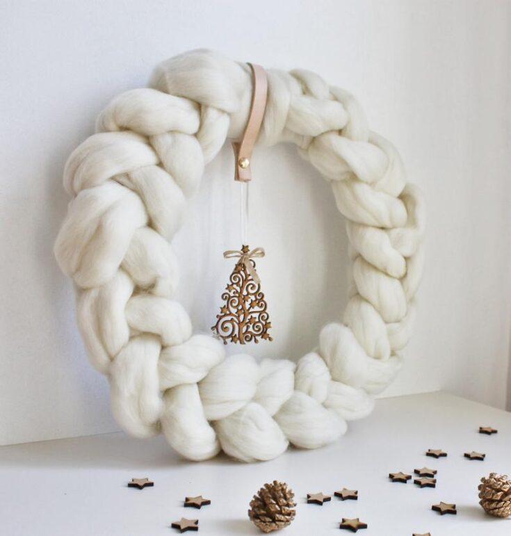 Xmas Wreath, Christmas Decor, Scandinavian Christmas, Nordic Christmas, Rustic Decor, Holiday Dec...